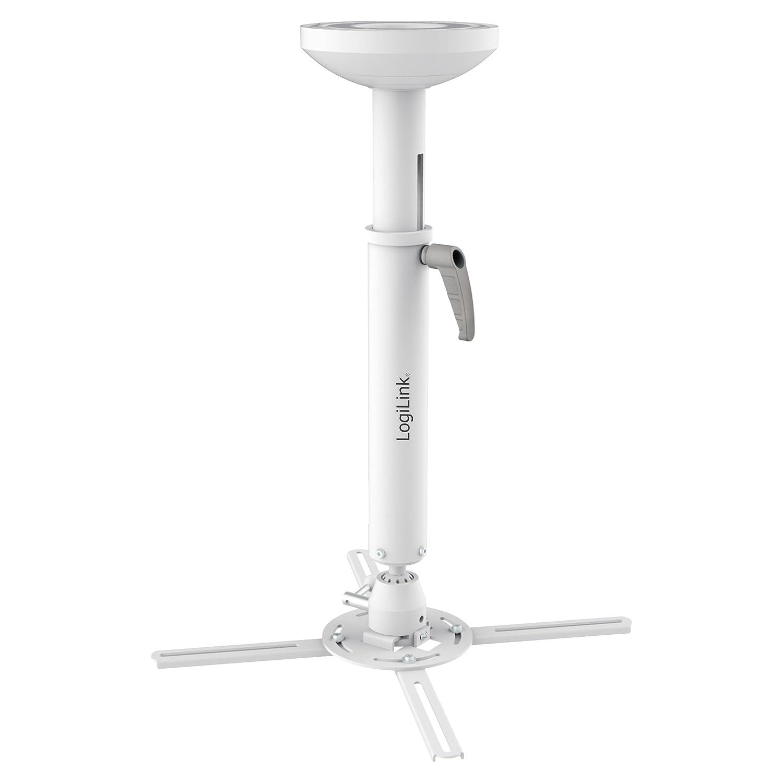 LogiLink BP0055 Techo Blanco Montaje para Projector - Soporte (Techo, 30 kg, 520 - 600 mm, -20 - 20° , 360° , -20 - 20° ) -20 - 20° 360° -20 - 20°)