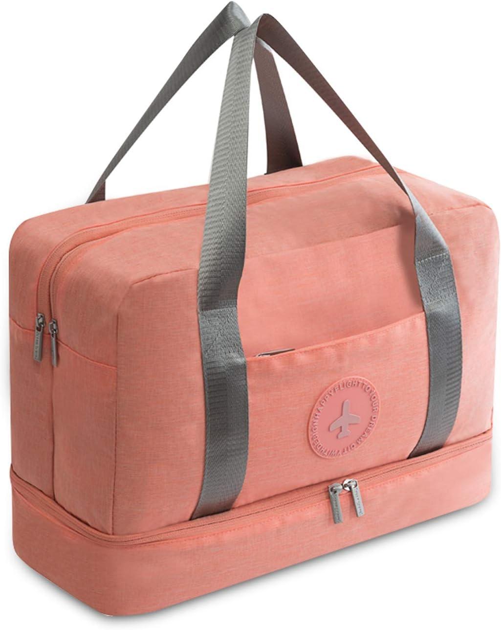 FANDARE Sac de Voyage Sac de Sport Travel Duffel Bag Sac Sport Gym avec Compartiment Chaussures Hommes//Femmes Sac /à Main de Plage Orange