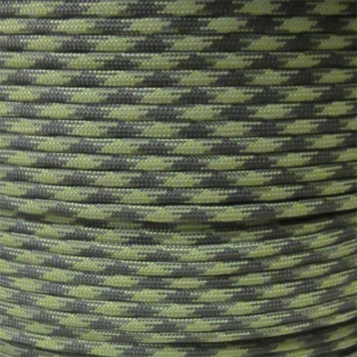 PARACORD PLANET 550 Cord Type III 7 Strand Paracord 1000 Foot Spool - Grass