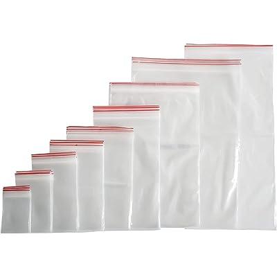 100 bolsas con cierre a presión con cierre de cremallera (40 tamaños a elegir), 4x6, farbenlos, 1