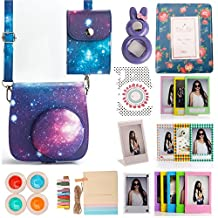 [Fujifilm Instax Mini 8 Case] Woodmin Galaxy Starry Sky 12-in-1 Accessories Bundle Set for Instax Mini 8 8+ Mini 9 (cameracase/ Photo Bag/ Album/ Frames/ Stickers/ Selfi-Lens)