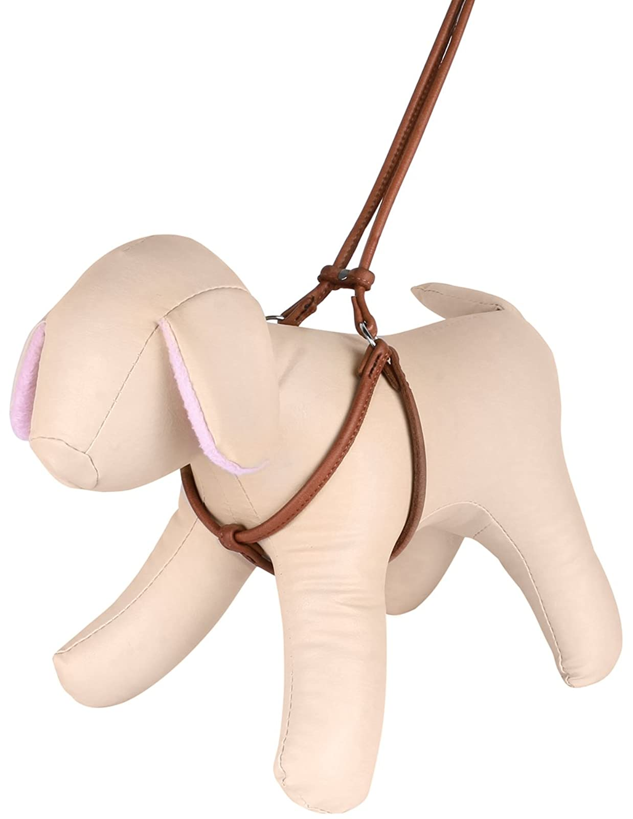 CollarDirect Rolled Leather Dog Harness Small Puppy - 3