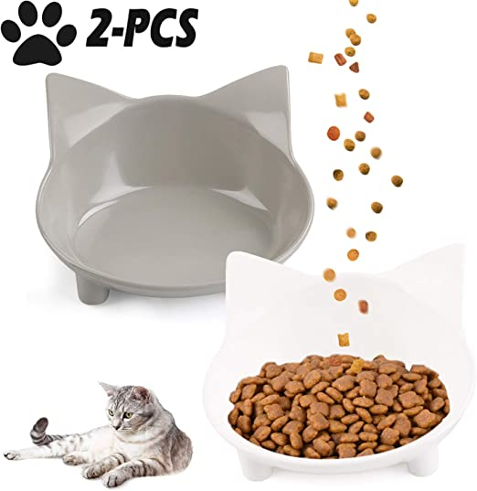 Legendog 2 Piezas Cuenco para Mascotas Cuenco De Comida para Gatos ...