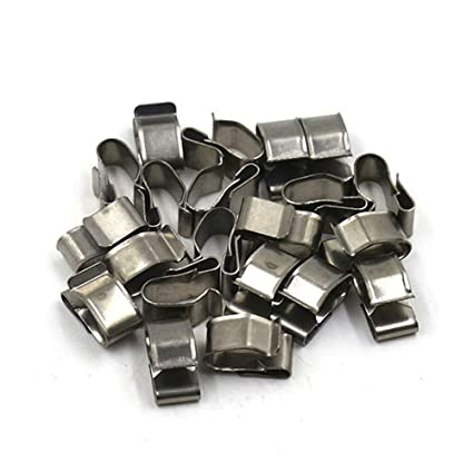 TOUHIA 14mm Stainless Steel Trailer Wiring Clips 20 Pcs