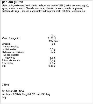 Dr. Schar Baguette Pan - Paquete de 2 x 175 gr - Total: 350 ...