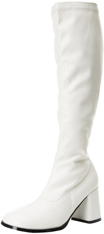 Pleaser Gogo300/yl, Damen Stiefel  46 EU|Wei? (Wht Str Pu)