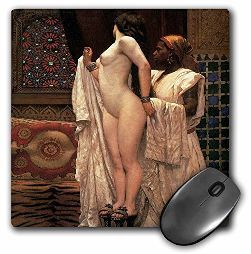 3dRose BLN Middle Eastern and Northern African Fine Art Collection - Apres le bain by Paul-Louis Bouchard - MousePad (mp_127395_1)