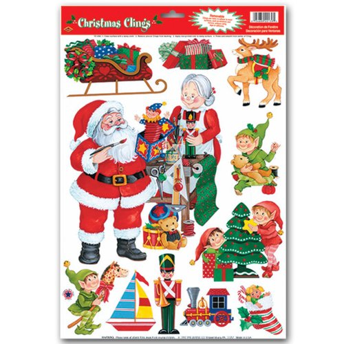 Santa's Workshop Clings Party Accessory (1 count)
