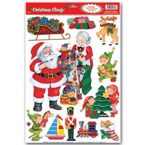 Santas Workshop Clings Party Accessory