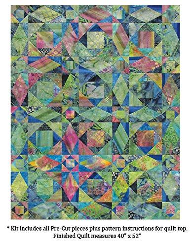 Benartex Storm at Sea Quilt Kit Precut Bali Batik Fabric & Pattern by Benartex (Image #1)
