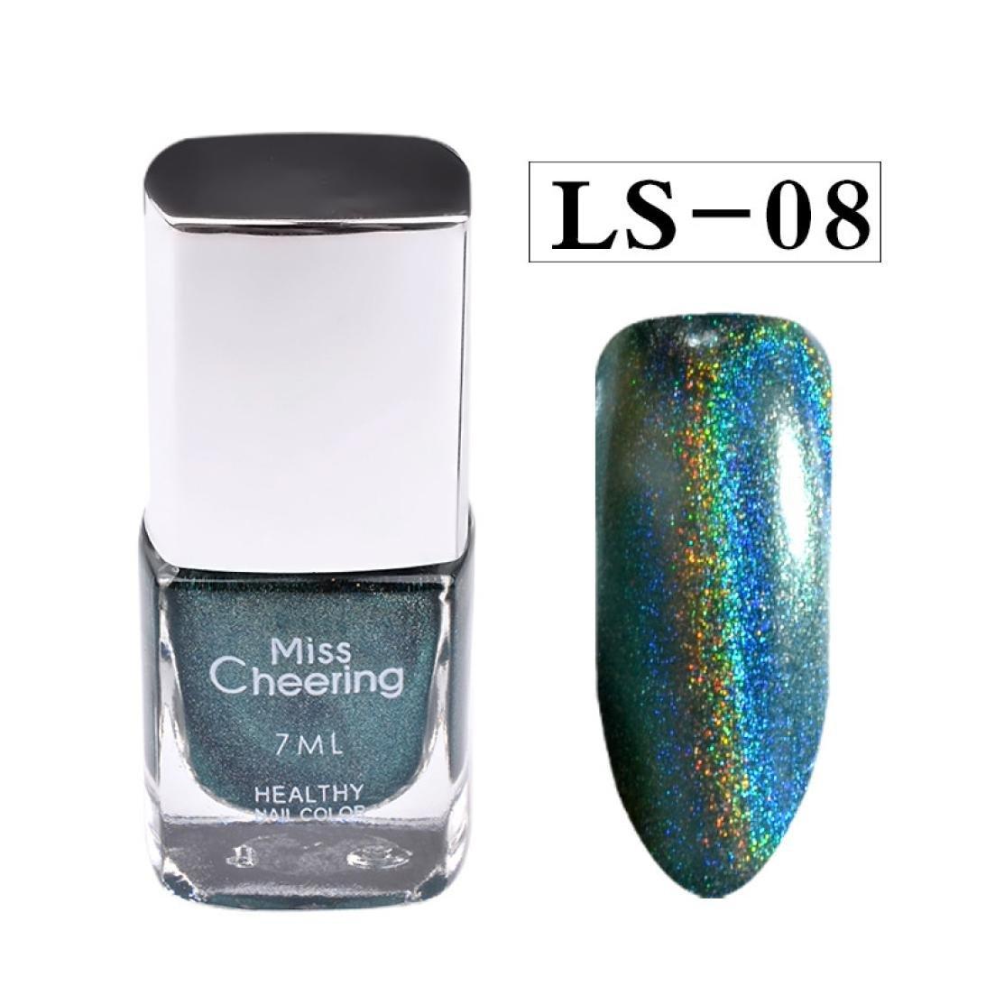 Samlike, 7ml nail polish pretty Holographic Nail Polish Holo GLITTER GEL POLISH NAIL ART Holographic (H)