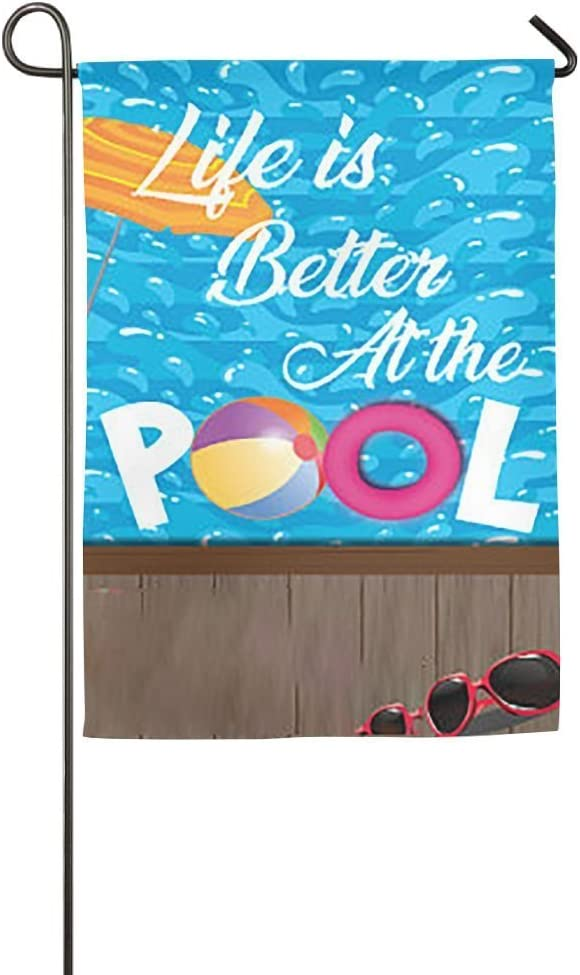 Destiny'S Flag Personalized Garden Flag - Life is Better at The Pool Flag 12.5 x 18 Inches