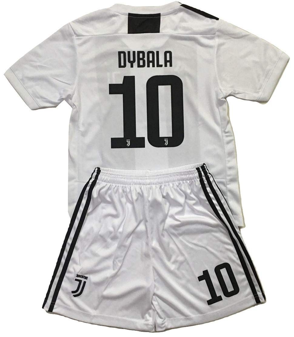 pick up ac8fe 06f44 Enevva Dybala #10 Juventus 2018-2019 Youths Home Soccer Jersey & Shorts