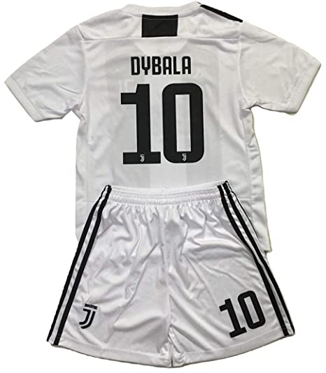 pick up f3a06 26eca Enevva Dybala #10 Juventus 2018-2019 Youths Home Soccer Jersey & Shorts