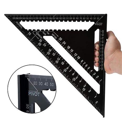 Regla de Triángulo,12 inch Aleación de Aluminio Escuadra de Tríangulo para Carpintería, Herramienta de Medición: Amazon.es: Bricolaje y herramientas