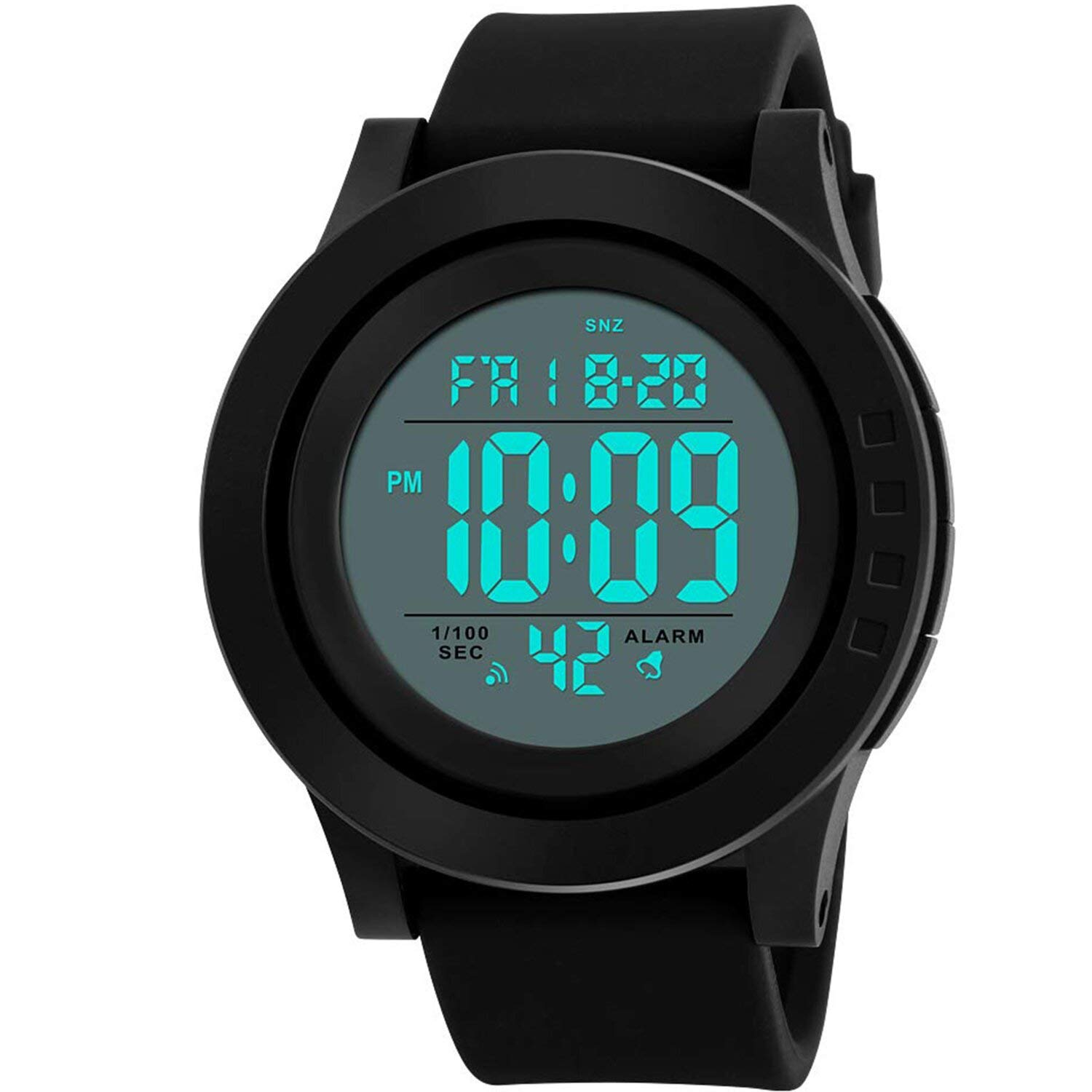 Lover's Watches Mens Watch Led Digital Date Sports Army Males Quartz Watch Outdoor Electronics Men Clock For Sports Wristband Running Gift