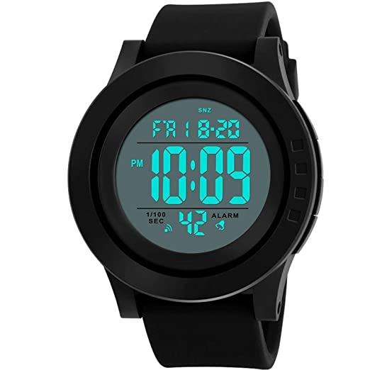 7eaea3f46 Image Unavailable. Image not available for. Color: Men's Digital Sports  Wrist Watch LED ...