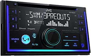 JVC KW-R930BT Double Din CD Tuner with Bluetooth Handsfree, iPhone and Android Control