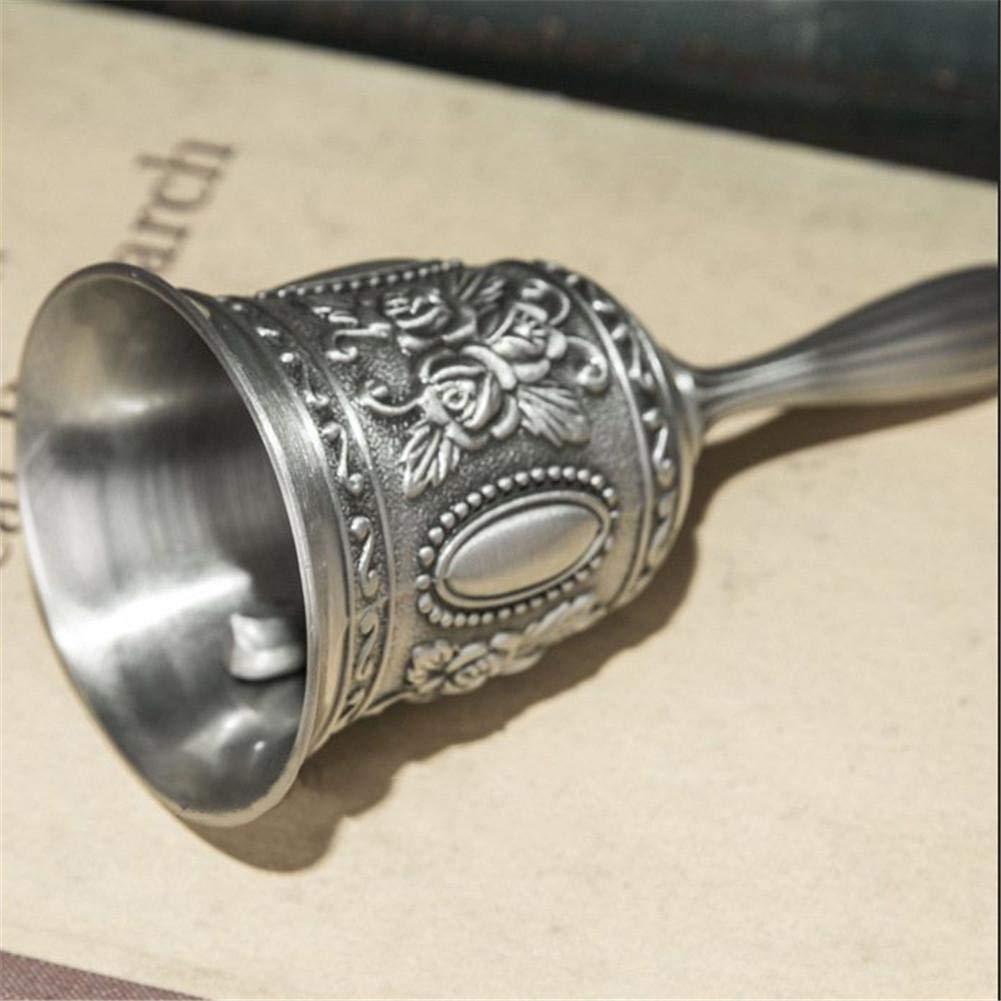 Earlyad Tischglocke Bell Traditionellen Stil mehrere Zweck T/ür Hand Call Bell Craft Ornamente extra laut f/ür Schulbibliothek Home Geschnitzte Bar Restaurant Hochzeit,Gold