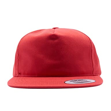 d27a09e8b2c3f Acorn Yupoong Classic 6502 Unstructured 5 Panel Snapback Hats Vintage  Baseball Caps (Red)  Amazon.co.uk  Clothing