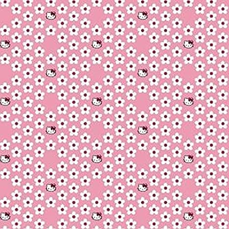 Marshalls Paper Hello Kitty Sample Wallpaper - A4 (White/Pink