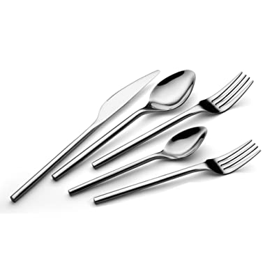 TALFOURD Silverware Royal 20 Piece Flatware Cutlery Set, 18/10 Stainless Steel Flatware, Service for 4, 100% Rust Proof