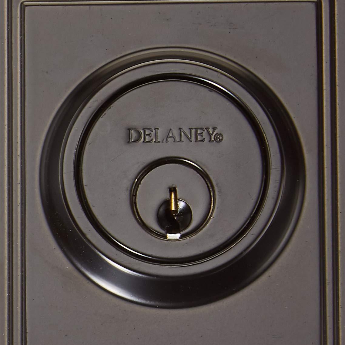 Black Delaney Hardware 374004SN Visconti Handlesest Single Cylinder Handleset