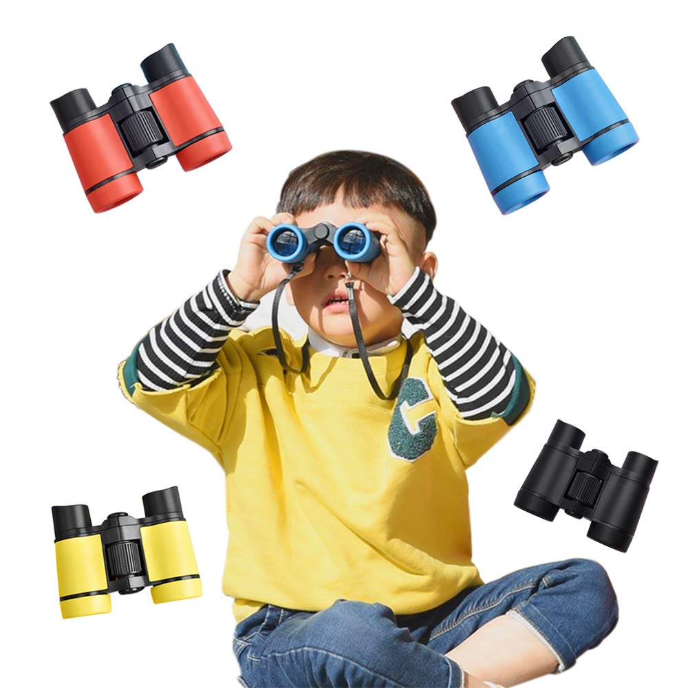 YOUDirect Kids Binoculars Gift Toy Binoculars Telescope with 4X Magnification 30mm Lens for Kids Bird Watching Camping and Hiking Pack of 4PCS