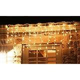 600er LED Eisregen Lichterkette Lichtervorhang Eiszapfen Warmweiß Außen Innen Deko für Garten Party Hochzeit Strombetrieben mit Stecker Gresonic