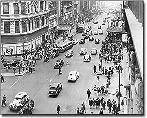 Herald Square 34th St. New York City 1945 11x14 Silver Halide Photo Print