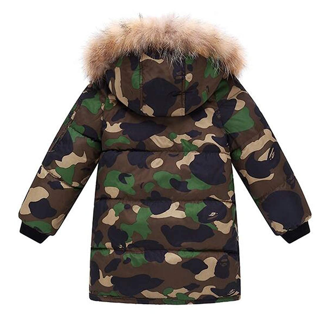 Cromoncent Big Girls Puffer Thicken Hoodie Down Coat Boys Parkas Jackets
