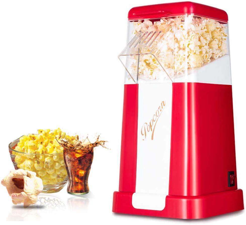 M.Y Palomitero Microondas Silicona Maquina de Palomitas de Maiz 1200W Palomitero para Hacer Palomitas de maiz en 2 Minutos, Aire Caliente Potente sin Aceite, Rojo: Amazon.es: Hogar