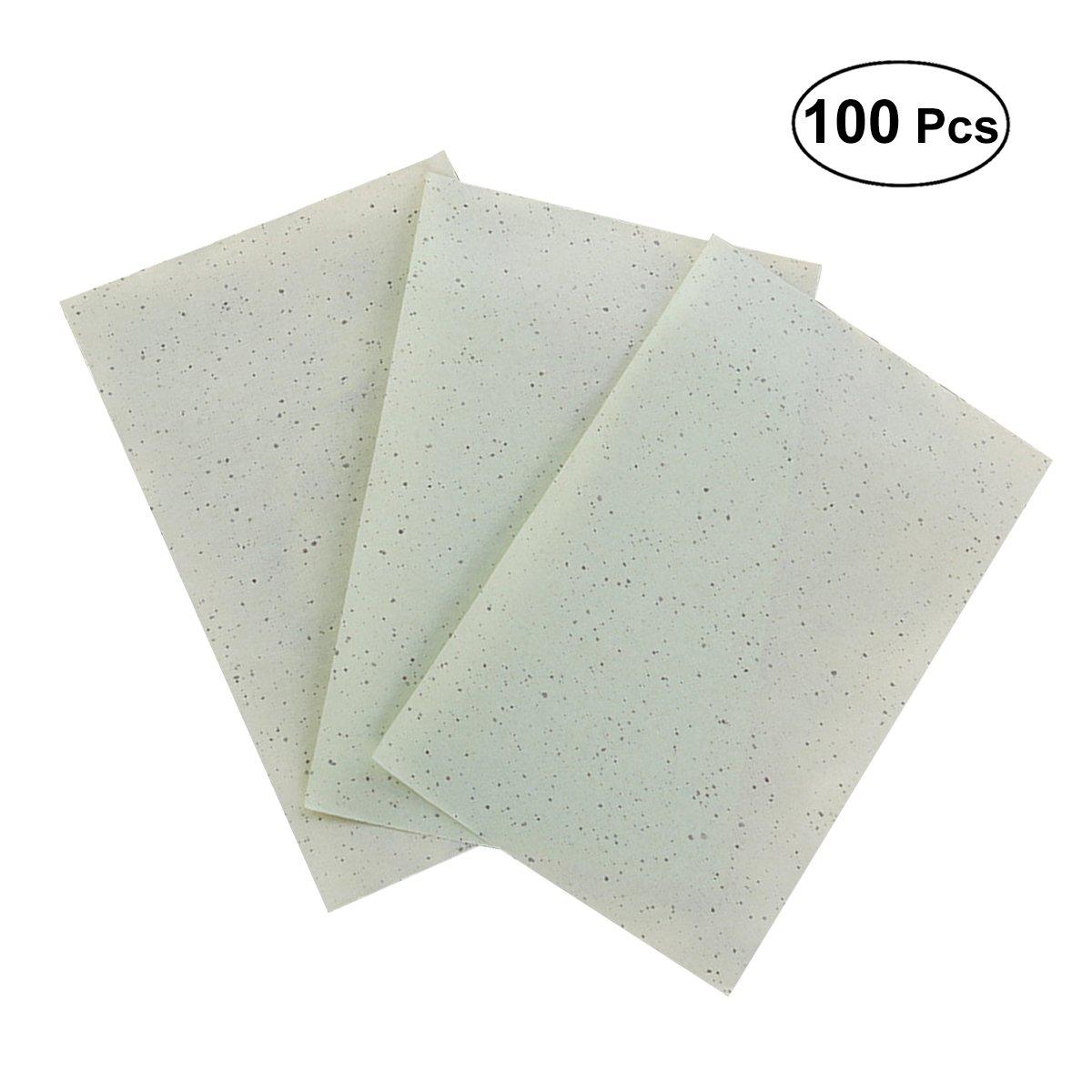 SUPVOX Hojas absorbentes del aceite que absorben del té verde que se lavan para quitar el exceso Shine 2 cajas
