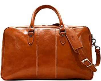43428f702f70 Venezia Suitcase Duffle Bag Weekender in Full Grain Leather