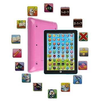 Youppin 10 piezas para preescolar enseñar Tablet pantalla táctil Pad, educativo ordenador Mini portátil tipo