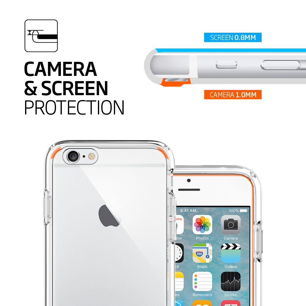 Spigen Ultra Hybrid iPhone 6S Case with Air Cushion Technology and Hybrid Drop Protection for iPhone 6S / iPhone 6 - Crystal Clear by Spigen (Image #6)