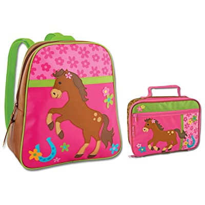 Stephen Joseph Horse Backpack and Lunch Box Combo - Cute Girls Backpacks