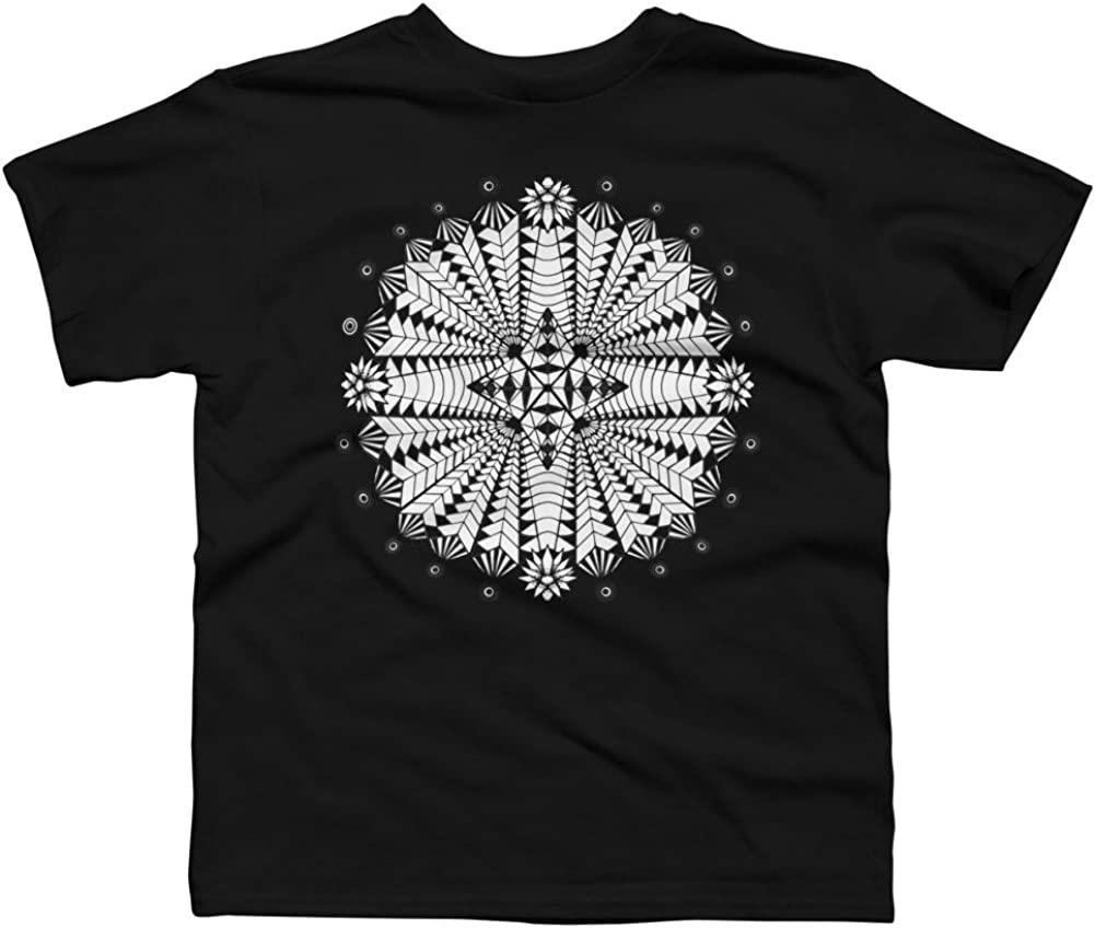 Design By Humans Star Mandala Boys Youth Graphic T Shirt