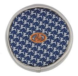 OllyDog OllyFlinger Flying Disc, Medium, Navy Houndstooth