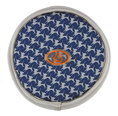 UPC 878359008905, OllyDog OllyFlyer Flying Disc, Large, Navy Houndstooth