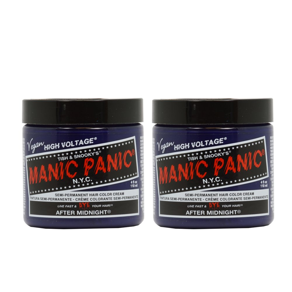 Manic Panic Semi-Permanent Hair Color Cream AFTER MIDNIGHT blue 4oz ''Pack of 2''