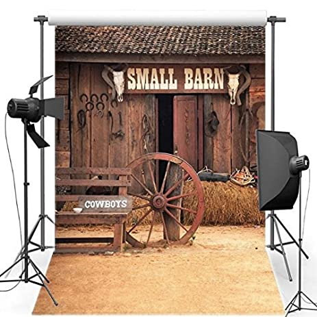 5x7ft Barnyard Old Country Barn Door Backgrounds Vinyl Cloth Computer Print Wall Party Backdrops S