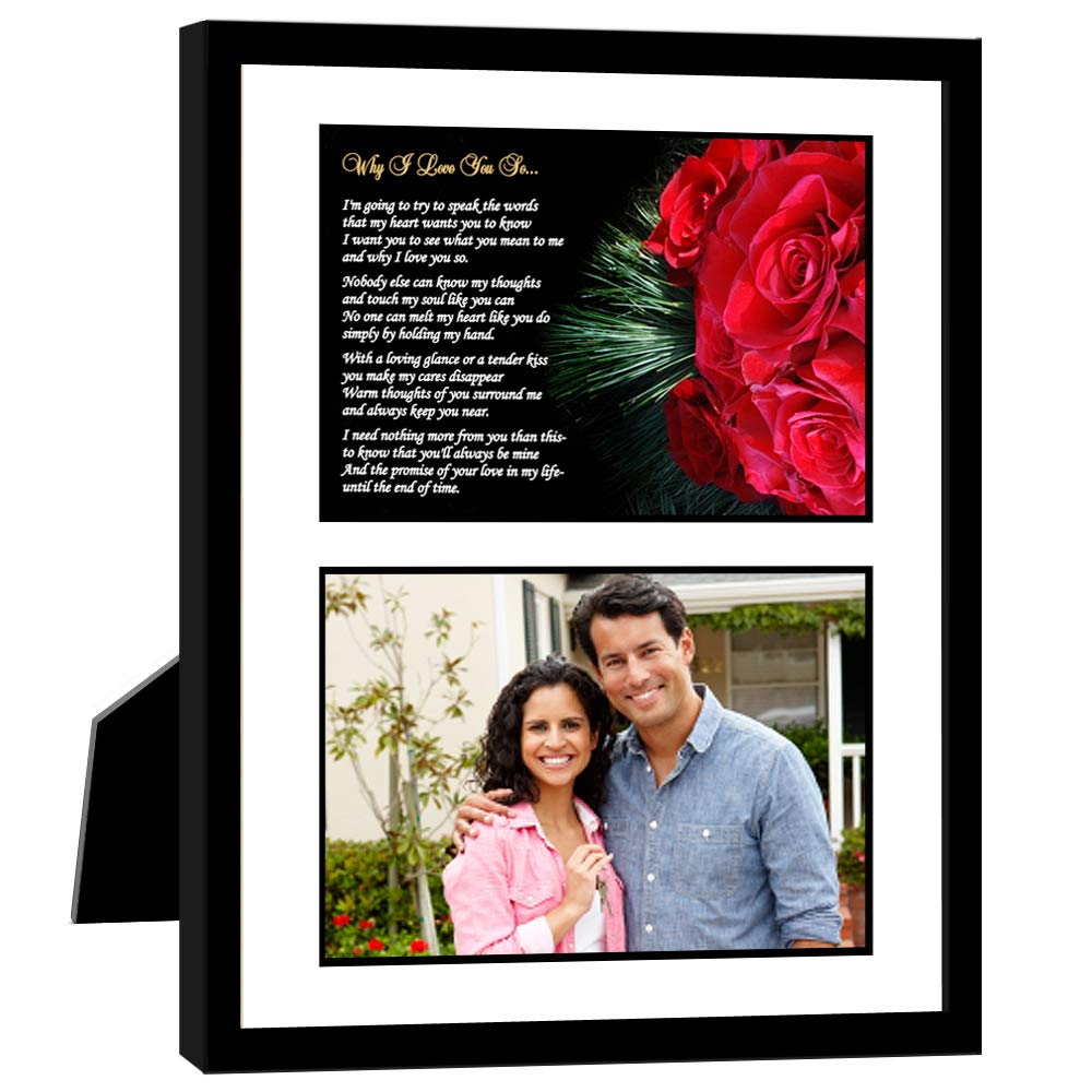 Add Photo Why I Love You So Romantic Anniversary or Birthday Gift for Him or Her