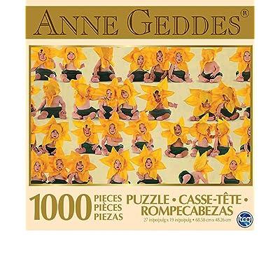 Anne Geddes 1000 Piece Puzzle - Sunflower Babies: Toys & Games