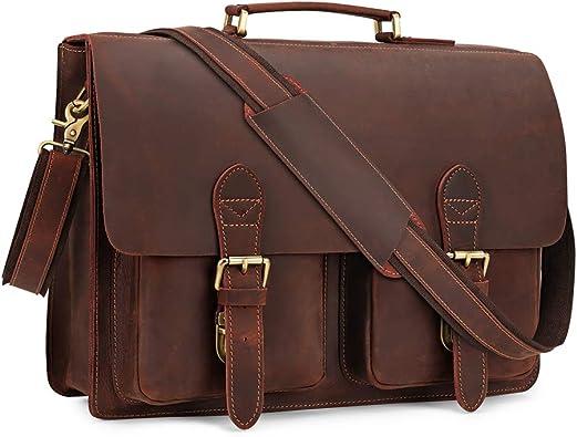 Bag Leather Vintage Messenger Shoulder Men Satchel S Laptop School Briefcase New