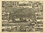 1881 map of Reading, Pennsylvania Topographic view of the city of Reading, Pa. 1