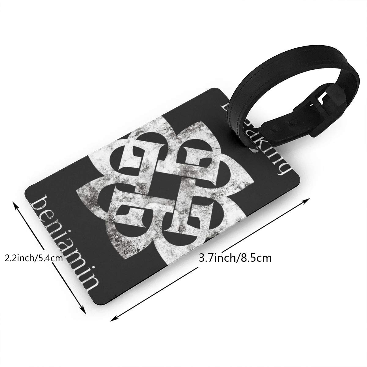 Hushuxiapp Breaking Benjamin Complete Printed Design PVC Luggage Tag Travel Suitcase ID Labels Accessories Leather Wristband