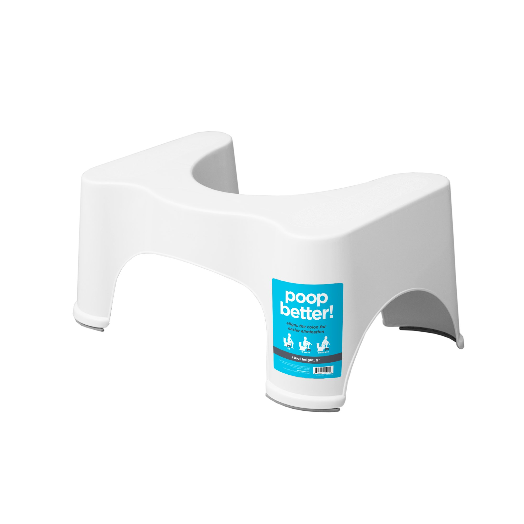 Squatty Potty The Original Bathroom Toilet Stool, White, 9''