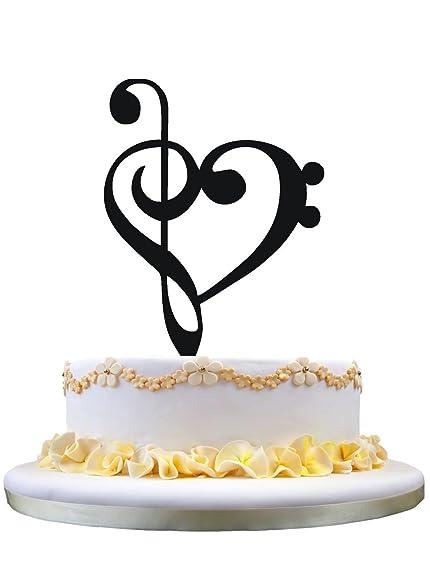 Amazon hearts cake topper music note silhouette wedding cake hearts cake topper music note silhouette wedding cake topper junglespirit Image collections