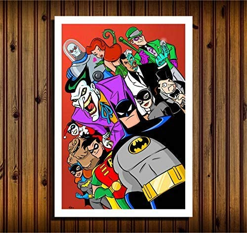 Lihuaiart Batman The Animated Series Superheroes,Art Home Wall Decorations